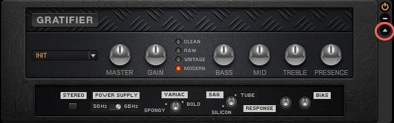 Expert Controls GRATIFIER Guitar Rig 5 (terbuka)