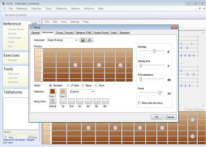 Software Belajar Bass dan Gitar