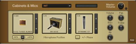 cabinet and Mics hanya terdapat pada guitar RIg 4