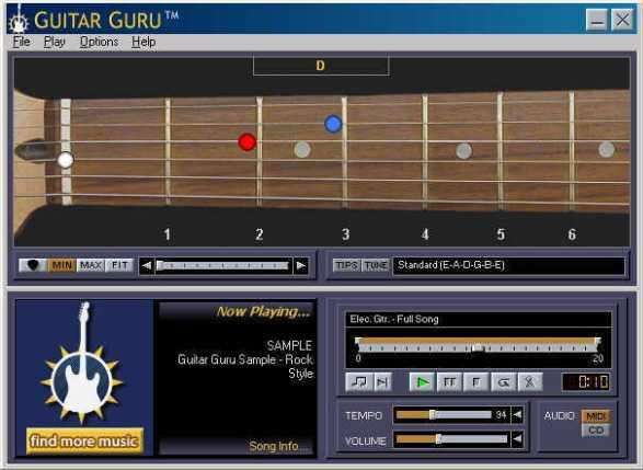 Guitar Guru software belajar gitar.