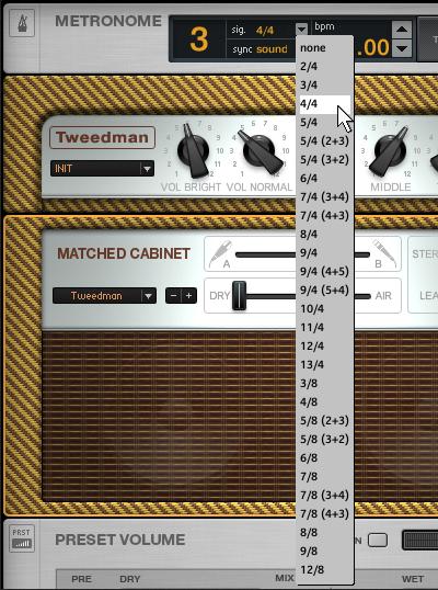 Belajar bermain gitar menggunakan metronome guitar rig