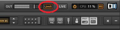 Guitar Rig Peak Volume Limiter