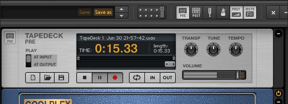 Record Guitar Rig using Tap Deck Pre